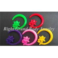 Buy cheap Green Red Purple Pink Yellow Flower Spiral Ear Tapers Plugs Stretcher from wholesalers