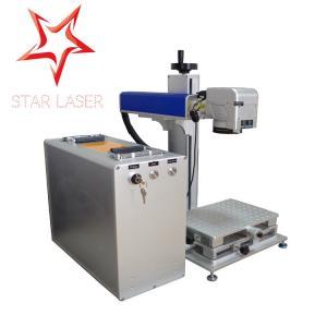 Cheap Blue 10W Fiber Laser Marking Machine, Pipe Laser Marking Engraving Machine for sale