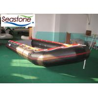 China Sturdy Inflatable Rubber Dinghy Reinforcement Sub Waterline 18 Seats Dismountable Floor on sale