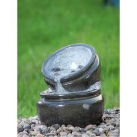 Traditional Black Marble Cast Stone Fountains Outdoor In Magnesia Material