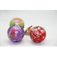 Cheap Full Color Christmas Gift Tin Boxes For Packaging Ball Shaped FDA ROHS for sale