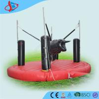 Cheap Inflatable Bungee Jumping Cattle , Inflatable Sports Game , Inflatable Bull Game for sale