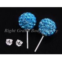Cheap Unique Crystal Piercing Earrings Studs , Party for sale