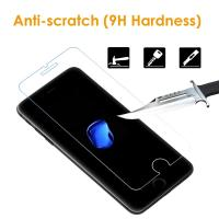 Cheap Easy Installation iPhone Tempered Glass Screen Protector Shatter Proof 9H Hardness for sale