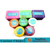Cheap Casino Crystal Personalized Poker Chips Set With Multi - Color Can Be Choosed for sale