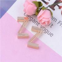 Cheap Solid Alphabet Shape Metal Handbag Tags , Stainless Steel Luggage Tags Personalized for sale