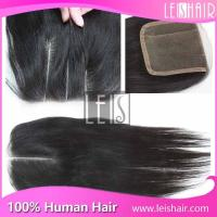 China hot new product three parting virgin hair lace closure on sale