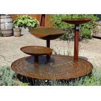 Cheap Cascading Outdoor Waterfall Corten Steel Water Feature Fountain For Garden for sale