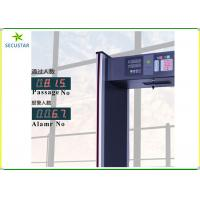 Cheap Full Body 6 Zone Walk Through Metal Detector IP55 For Public Security Checking for sale