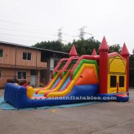 Cheap 4 In 1 Amusement Park Inflatable Bounce Houses Rentals EN14960 Approvals for sale