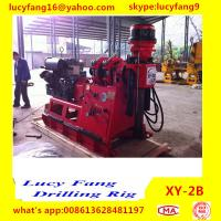 Cheap China Deutz Engine High Quality Iran Popular XY-2B Skid Mounted Spindle Type Geotechnical Core Drilling Rig with SPT for sale