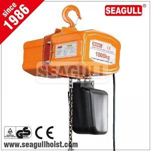 Cheap 1 ton / 1 tonne / 1t electric chain hoist , electric mni crane 12 v for sale