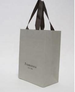 Cheap Flexiloop Handle 200gsm Recycled Paper Shopping Bags for sale