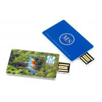 China Customize Design Credit Card Shape USB Flash Drives With Laser Engraving Logo on sale