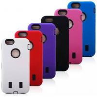 Cheap Robot Pattern Cell Phone Case Wear Resistant Skin For Iphone 6 Three Layer Covers for sale