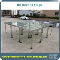 Easy Assamble Portable Square Beyond Stage Event with Four Legs Plexiglass Stage Decks Manufactures