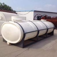 Cheap 10000L plastic horizontal truck water storage tank for drink water for sale