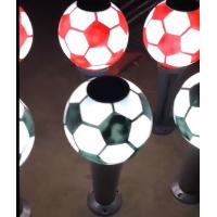 Cheap Football Style Solar Post Lights Solar Bollard Lawn Lights Outdoor LED Garden Lights Home Fence Lights for sale
