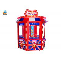 Cheap Big Doll Claw Crane Vending Toy Game Machine British Style Acrylic Material for sale
