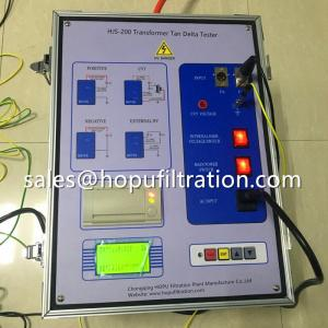 Cheap Transformer Tan Delta Tester, dielectric loss and capacitance tangent Test Set for sale