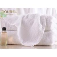 100% Cotton Terry Hotel Hand Towels Embroided White Color Luxury Hand Towels