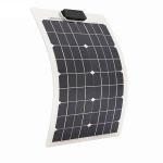 Cheap 50 Watt RV Flexible Solar Panels PET Front Sheet 4.44A 18V Impact Resistant for sale