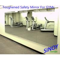 Cheap GYMs Processed Mirror Glass , decorative wall mirrors Water resistance for sale