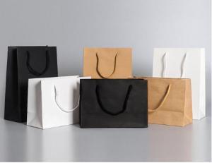 Cheap 5kgs Loading Flexo Printing Printed Paper Shopping Bags for sale