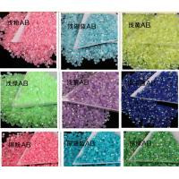 Cheap 14 facet cut neon ab stone resin stone acrylic stone for phone cover decoration for sale