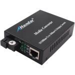 Cheap IP30  Single-Mode SC Type  Fiber  Ethernet media converter 1310/1550nm for sale