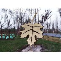 Cheap Art Stainless Steel Leaf Painted Metal Sculpture For Garden Park Decoration for sale