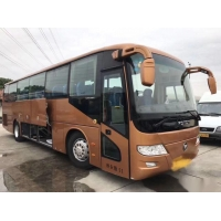 Cheap BJ6113 Used Coach Bus FOTON Brand 51 Seats Single Door Low Kilometer Euro IV Left Hand Drive for sale