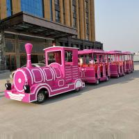 China Tourist Theme Park Train Ride Electric / Diesel Power With FRP Material on sale
