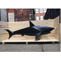 Cheap Life Size Abstract Metal Garden Sculptures / Metal Shark Sculpture In Stainless Steel for sale