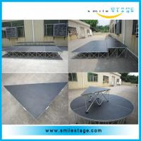 Cheap Non-slip Industrial Material Platform Aluminum Mobile Stage for sale