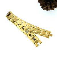 Hot Sale Titanium Infrared Ray New Gold Bracelet Models,with Bio element magnet
