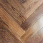 Cheap Black Walnut Fishbone wooden floor, American walnut herring bone herringbone flooring for sale