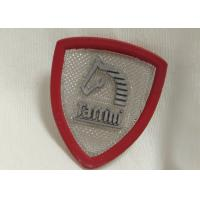 Cheap Custom Rubber Logo Patches Silicone Badge For Outdoor Wear / Shoes / Bags for sale