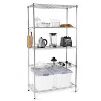 Cheap H173 Simple Design Metal Display Shelf Carbon Steel Beautifully Silver - Finished for sale