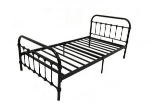 Cheap ISO18001 Modern Adult Black Metal Single Bed Frame for sale