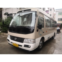 Cheap Used Coaster Bus 2017 Toyota 23 Seats Low Kilometer Left Hand Drive for sale