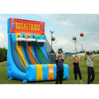 Cheap Enviromental Inflatable Basketball Hoop With Basketball Shooter Games for sale