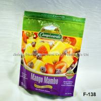 Buy cheap Zipper PE Food Packaging Plastic Bags , Fruit Packaging Pouch With Gusset from wholesalers