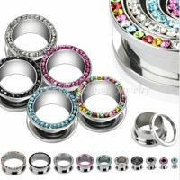 Cheap Titanium Andized 14mm, 16mm Ip Gold Plated Internal Thread Flared Ear Flesh Tunnels for sale