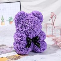 Cheap China manufacturer long lasting bear foam rose bear as lady gifts for sale