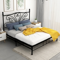 Cheap Platform Mattress Base Modern 1.0mm Thick Iron Double Bed Frame Easy Assemble for sale