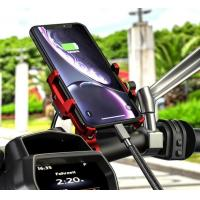 Cheap 360 Degree Rotation Motorcycle Mount Bike Mobile Phone Holder With QC 3.0 Motorcycle Usb Charger for sale