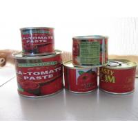 Cheap private lable canned tomato paste  brix 28-30% 2200g tomato sauce tinned tomato with easy open lid for sale