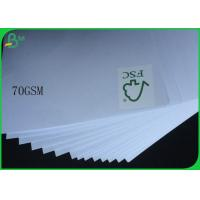 China FSC Uncoated And Virgin Pulp Style High White 70gsm White Wood Free Paper on sale