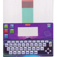 Multicolored Printed Keyboard Membrane Switch With Metal Dome And Rubber Keys Manufactures